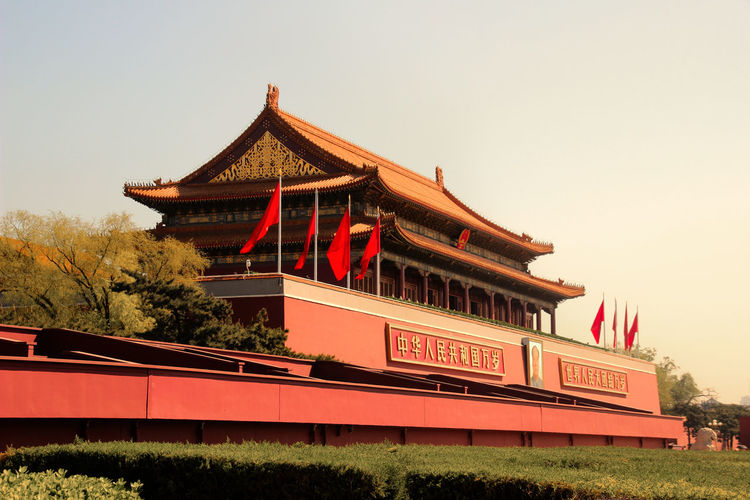 Architecture Beijing Building Exterior Built Structure China Clear Sky Day Forbidden Forbidden City Gate Of Heavenly Peace Iconic Imperial City Mao No People Outdoors Palace Pekin Red Sky Tiananmen  Tiananmen Gate Tiananmen Square Turism 北京 天安门 The Architect - 2017 EyeEm Awards Neighborhood Map The Architect - 2017 EyeEm Awards Been There. An Eye For Travel My Best Travel Photo