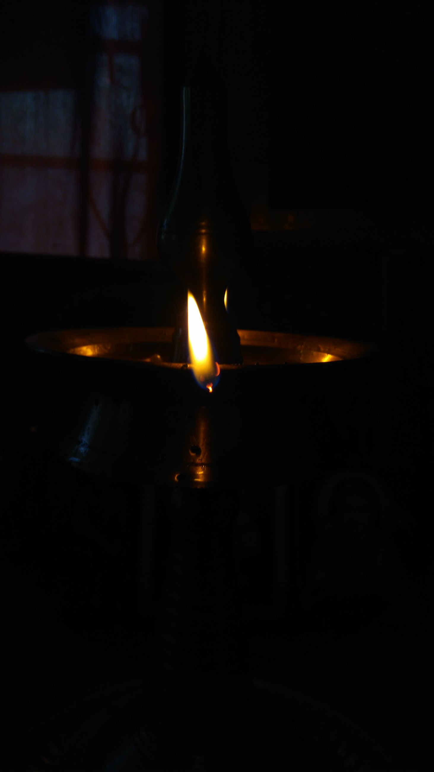 illuminated, night, indoors, dark, lit, lighting equipment, light - natural phenomenon, glowing, flame, darkroom, burning, candle, close-up, no people, light, copy space, table, fire - natural phenomenon, reflection, darkness