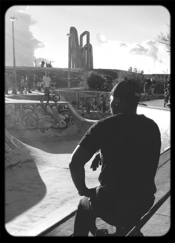 Skateboarding Monochrome Black And White Hello World