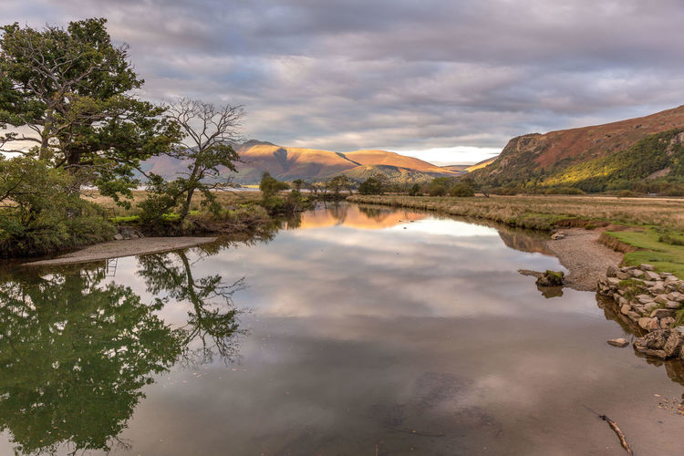 Borrowdale reflections autumn evening. Beauty In Nature Cloud - Sky Clouds And Sky Day Lake Lake District Lake District National Park Landscape Mountain Nature No People Outdoors Reflection Scenics Sky Tranquil Scene Tranquility Tree Water Waterfront