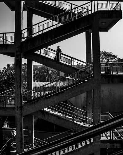 We all rest and walk towards the unknown. Stairs The Street Photographer - 2018 EyeEm Awards Architectural Column Architecture Blackandwhite Bridge Bridge - Man Made Structure Building Exterior Built Structure Engineering Footbridge Outdoors Overpass Sky Travel The Great Outdoors - 2018 EyeEm Awards The Architect - 2018 EyeEm Awards The Traveler - 2018 EyeEm Awards