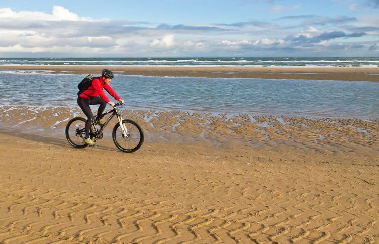 Beach Beach Activities Beach Cyclist Beachphotography Bicycle Cloud - Sky Cycling Full Length Leisure Activity Lifestyles Nature Outdoors Sand Sea Seascape Sky Sport Water