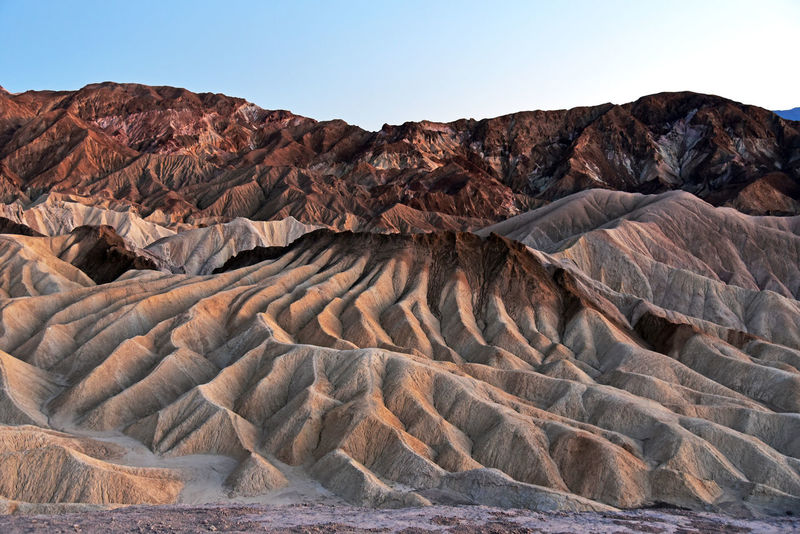 Zabriskie Point in Death Valley National Park, California California Death Valley Desert Arid Climate Beauty In Nature D750 Geology Landscape Mountain Physical Geography