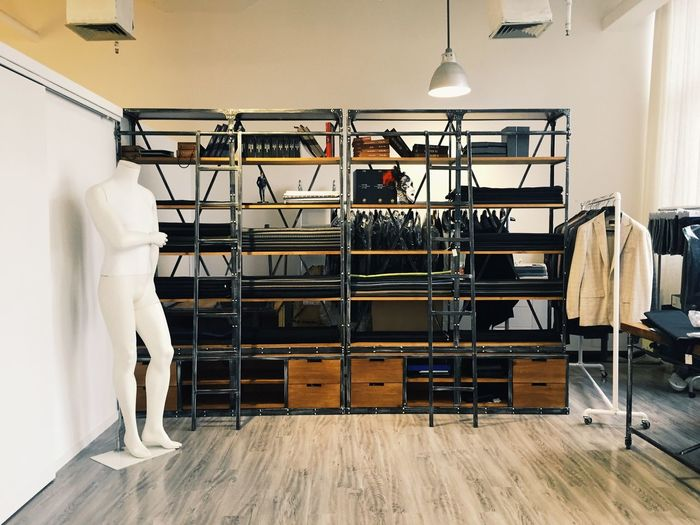 Interior of fashion studio