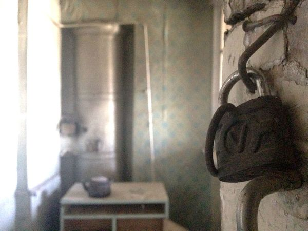 Inside one of Gyumri 2015 's Wrecked houses Armenia Teapot Abandoned Abandoned Buildings Broken Lock