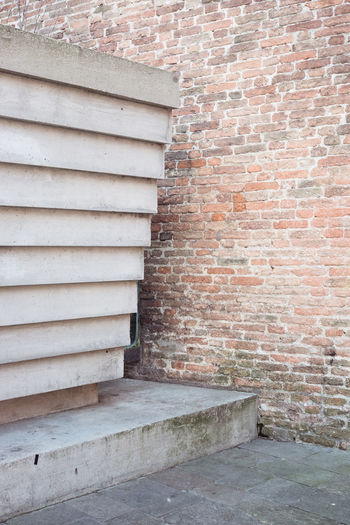 Absence Architecture Brick Brick Wall Brown Building Building Exterior Built Structure City Closed Day House Nature No People Outdoors Pattern Staircase Venice Wall Wall - Building Feature White Color