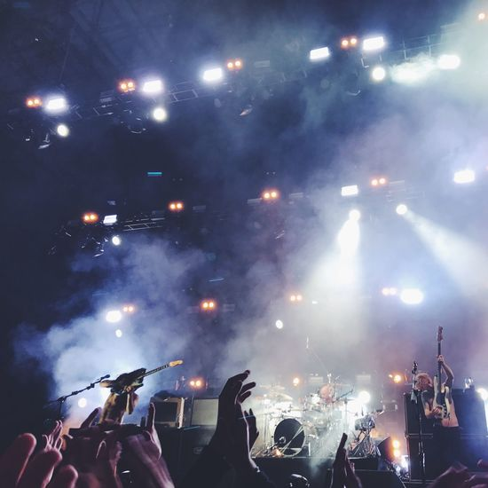 Music Crowd Arts Culture And Entertainment Band Performance Show BiffyClyro Illuminated Audience Stage Light First Eyeem Photo
