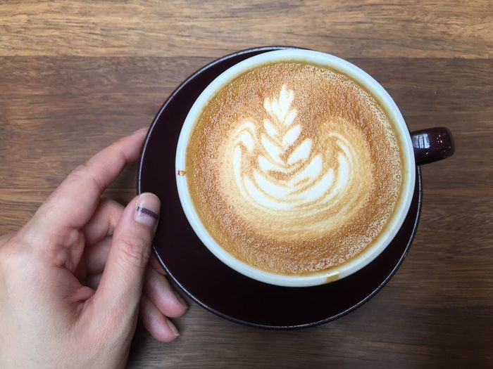 Drinking A Latte