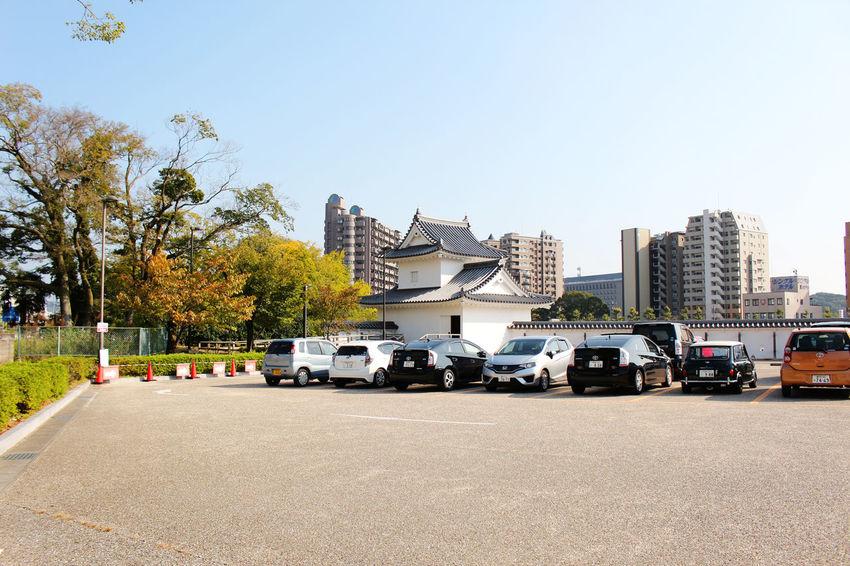 Toyokawa Inari Architecture Car City Clear Sky Day Inari Japan Japanese Culture No People Outdoors Sky Transportation Tree