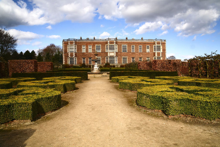 Temple newsam house england uk in the springtime Leeds Maze Temple Newsam Temple Newsam House Tudor Architecture Building Exterior Cloud - Sky Day Hedge Hedges Heritage Jacobean Nature Sky Uk