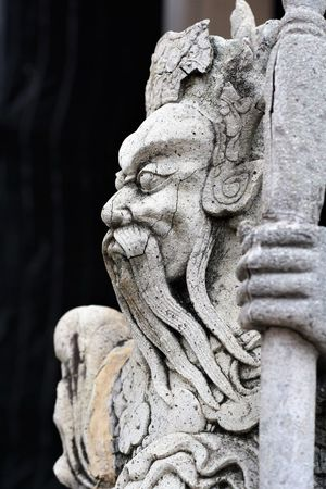 Ancient Chinese style stone sculpture in Wat Suthat Thepwanaram Bangkok, Thailand. Thailand Photos Wat Suthat Ancient Architecture Carving - Craft Product Chinese Style Close-up Day Lion - Feline No People Outdoors Sculpture Statue Stone Material Stone Sculpture