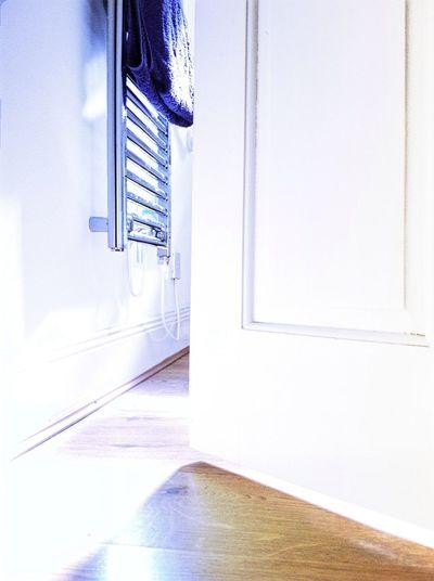 Open door of bathroom at home