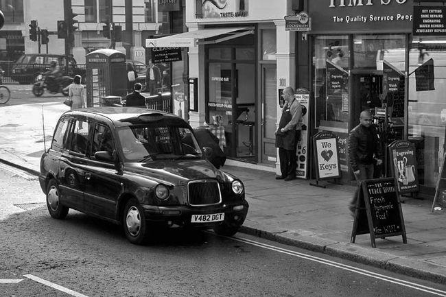 B&w Street Photography London Street Texi People Life Daily Life Monochrome Shop EyeEm Best Shots EyeEm