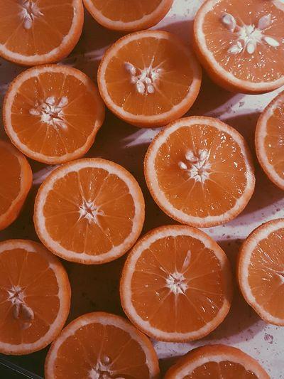 Oranges VSCO Effect Warm Colors Oranges Orange Color Orangeslice Fruitporn Fruits Lover EyeEm Selects Cross Section Orange - Fruit SLICE Blood Orange Food And Drink Food Grapefruit Vitamin C Halved Vitamin No People High Angle View Studio Shot Indoors  Sour Taste