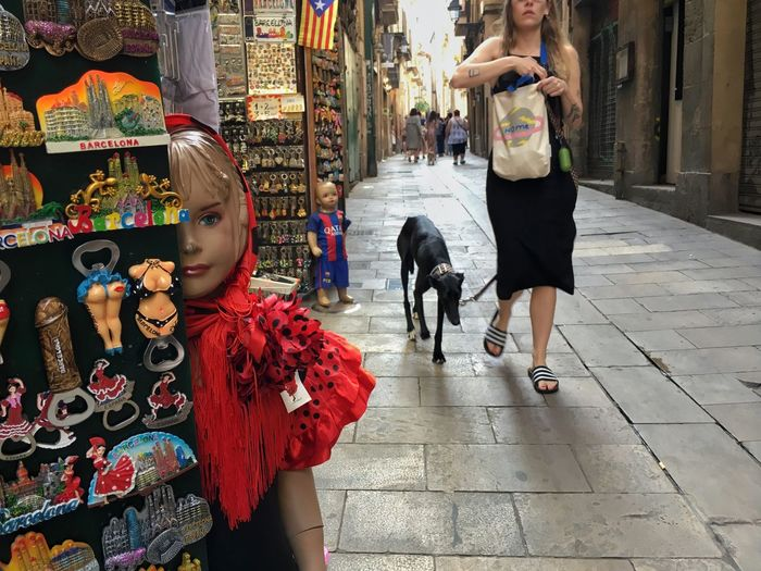 Gothic Quarter Barcelona Canine Dog City Domestic Animals Pets Domestic Mammal Women Day People Outdoors The Street Photographer - 2018 EyeEm Awards