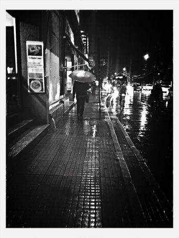 Blackandwhite Stree Photography Rain Light And Shadow