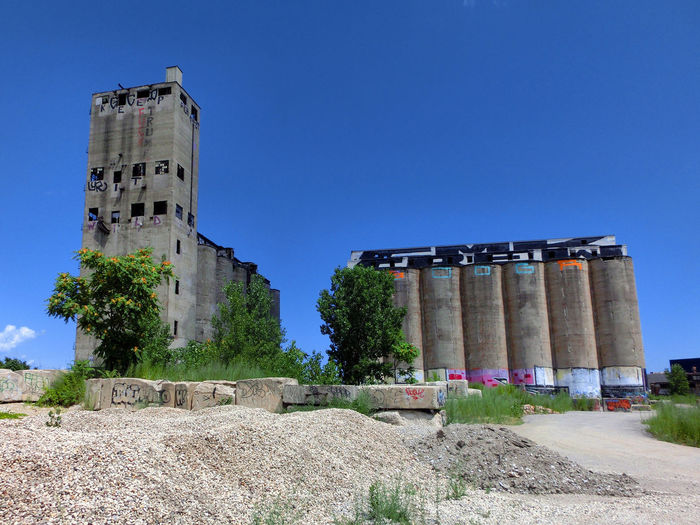 Destruction Abandoned Architecture Blue Clear Sky Day History No People Outdoors Sky