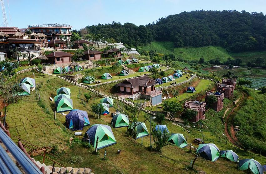 Outdoors Landscape Travel Destinations Camping Mountains Chiangmai Thailnad