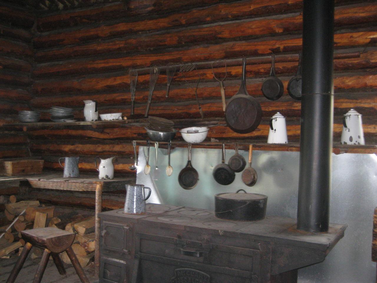 Interior Of Old Kitchen