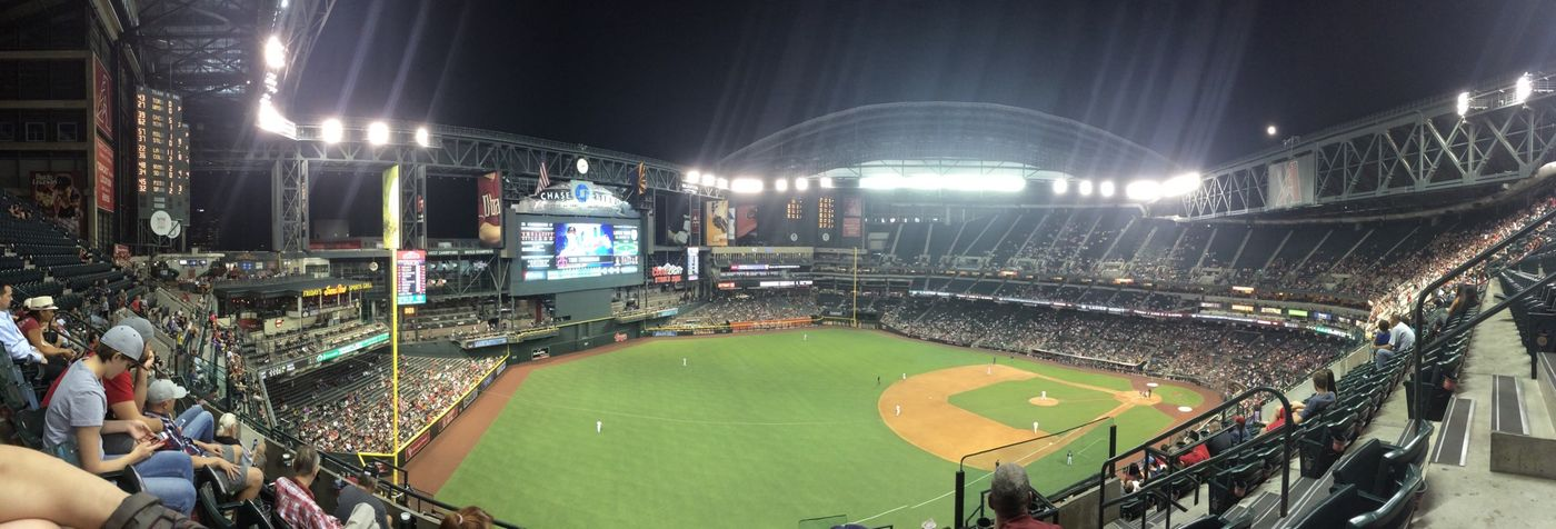 Bright lights on Monday night watching the roof open was pretty cool
