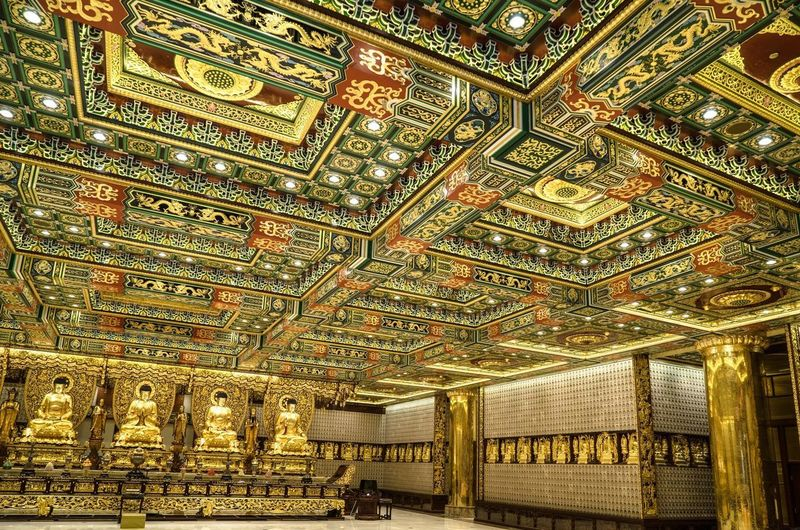 """Ten thousands Buddha"" temple in Hong Kong, situated in the middle of the sacred area on Lantau Island. Sacred Sacred Places Pray Lantau Island Hong Kong Ten Thousand Buddha Monaster Buddha Statue Buddha Temple Monastery Pattern Indoors  Design No People Religion Art And Craft Creativity"