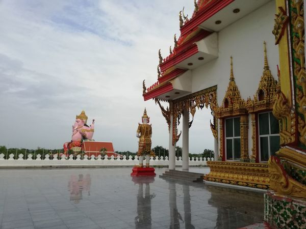 BUDDHISM IS LOVE Buddhist Temple Architecture And Art Ganesha Lord Of Success Ganesha Tree Statue King - Royal Person Place Of Worship Religion Sculpture Water Sky Architecture Pagoda Buddhist Temple Palace Pavilion Stupa