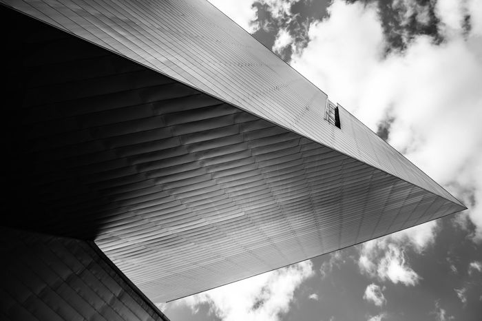 Abstract Abstract Photography Architecture Art Building Exterior Built Structure Cloud - Sky Day Looking Up Low Angle View Museum No People Outdoors Roof Sky The Graphic City