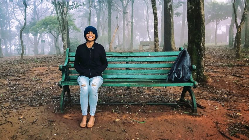 Sitting Full Length One Person Young Adult Leaf Tree Young Women Front View Women Autumn Adult Forest Lifestyles Portrait Outdoors Nature People Day Adults Only Iphonephotoacademy PhonePhotography Iphonephotography Nandihills Greenery Foggy Let's Go. Together.