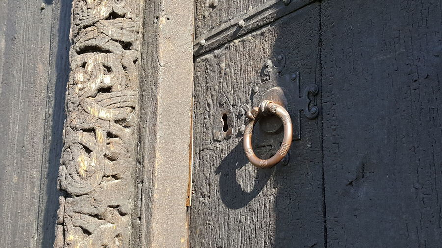 EyeEm Selects Day Outdoors Shadow No People Close-up vikings old church Structure Building Exterior Architecture History Lom Norway Stavkyrka old church Wooden Church  Wood - Material Old Wooden Door Old Wodden Church