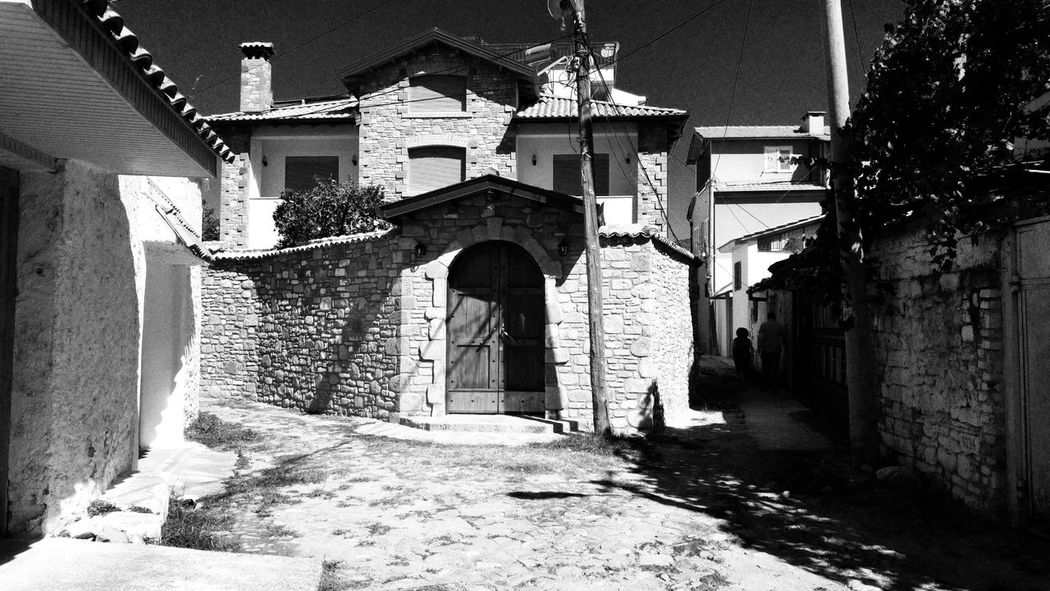 Elbasan, Albania . Building Exterior Architecture Built Structure House Religion Church Narrow Place Of Worship Entrance Outdoors Façade Arch Damaged History Day Town Sky No People Elbasan Albania Check This Out Taking Photos EyeEm Best Shots Eye4photography  Embrace Urban Life