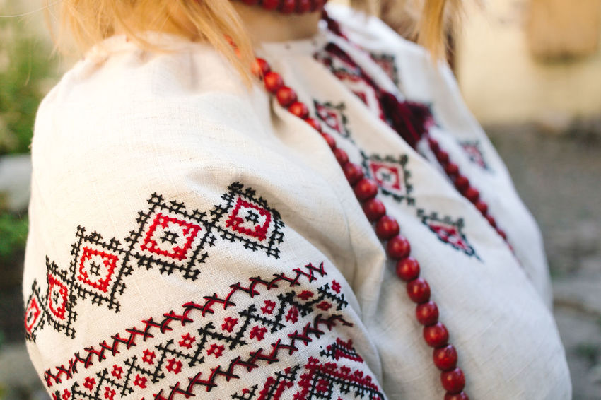 Embroidery Day Embroidery Day Ukraine Ukraine 💙💛 Ukrainian Girl Casual Clothing Day Embroidery Focus On Foreground Lifestyles National Clothes One Person Real People Textile Ukraine Girl Ukraine People Ukraine Style White Color