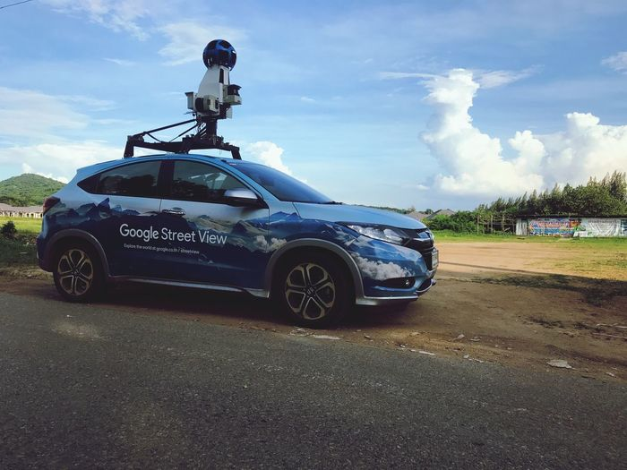 Google Streetview Transportation Mode Of Transportation Land Vehicle Car Motor Vehicle Cloud - Sky Sky Outdoors City Land Stationary Security Communication Road Incidental People Government Day Field Nature Sunlight