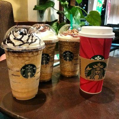 Friday evening Coffee with my boys and my ladies CoffeeAddiction Iamalexchan Kualalumpur malaysia starbucks starbucksmalaysia God I love coffee!!