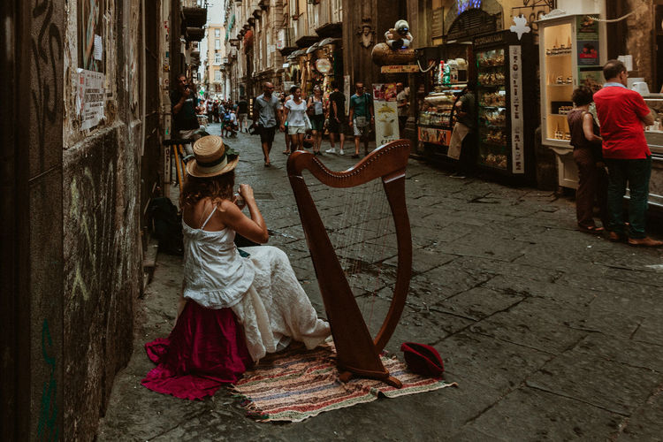 Real People Full Length Women Street Adult Architecture City Building Exterior Day Lifestyles Incidental People Built Structure Childhood Men Casual Clothing Clothing Walking Outdoors Naples Napoli Italy Italia Naples, Italy Streets