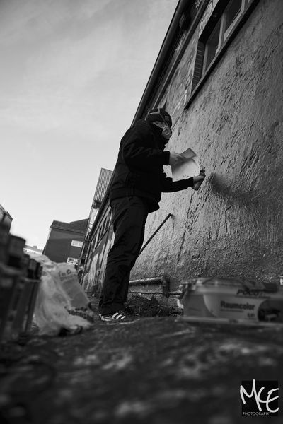 Adult Day Grafiti Hannover Monochrome One Person Outdoors Painter - Artist