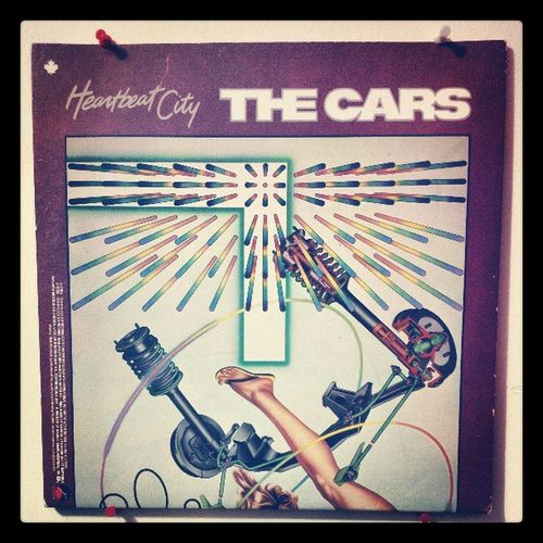The only record I own. TheCars Cars Heartbeatcity 80s wall hung drive 1984