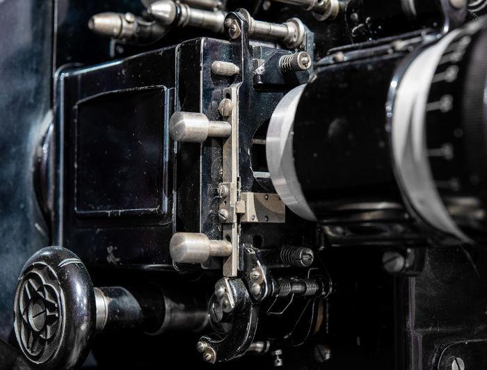Close-up of machine