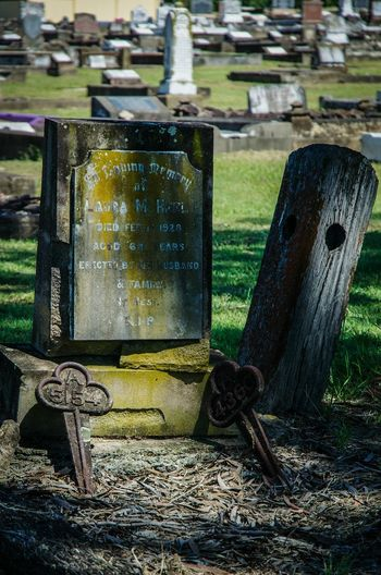 Graveyard Beauty Cemetery Photography Nikon D5100  No People Gravemarkers Weathered Wood Peaceful