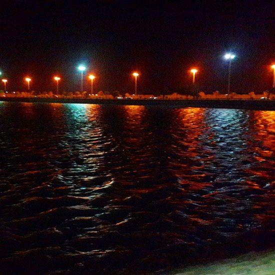Night Landscape Lights Beatifull Beach