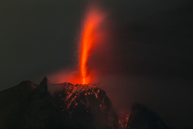 Mount Sinabung erupts at North Sumatra, Indonesia Eruption Night EyeEmNewHere Nature Nightphotography Climate Change Erupting Eruption Landscape Volcanic Crater Volcano The Photojournalist - 2018 EyeEm Awards HUAWEI Photo Award: After Dark Be Brave A New Beginning The Week On EyeEm Editor's Picks