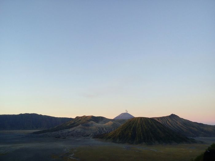 Scenic View Of Mt Bromo Against Sky During Sunrise