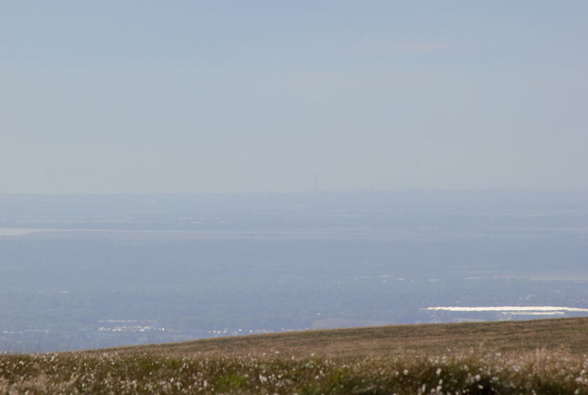 If you look closely at the horizon you can see Blackpool Tower which is about 40 miles (64 km) away from where i took the photo Tranquility Outdoors Tranquil Scene Nature Landscape Grass No People Scenics Beauty In Nature Day Sky Horizon Over Land