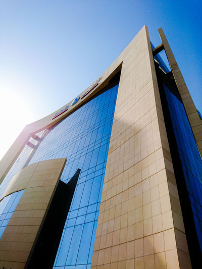 Arab National Bank Building, Al Khobar Architecture Built Structure Sky Low Angle View Clear Sky Building Exterior Office Office Building Exterior Building Modern City Blue Tall - High Façade Facade Building Al Khobar ANB Bank Arab National Bank Bank Building Bank