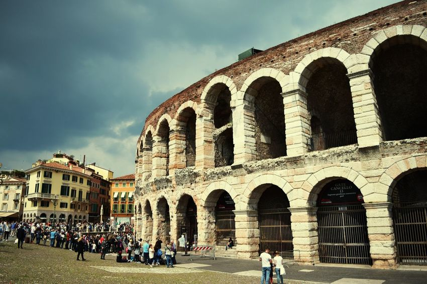History Travel Destinations Architecture Tourism Travel The Past Old Ruin Ancient Arch Tourist Large Group Of People City Built Structure Sky Outdoors Vacations Building Exterior People Day Ancient Civilization Verona