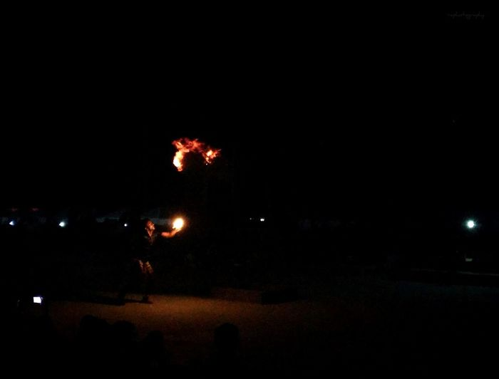 Night Arts Culture And Entertainment Illuminated Celebration Dark Jaisalmer India Tourism Mobilephotography Sand Dune Breathing Fire Firebender Prince Zuko? An Eye For Travel