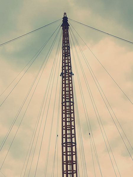 O2 London Technology Silhouette Steel Business Finance And Industry Sunset Pattern Cable Electricity  Built Structure Sky Day No People Outdoors