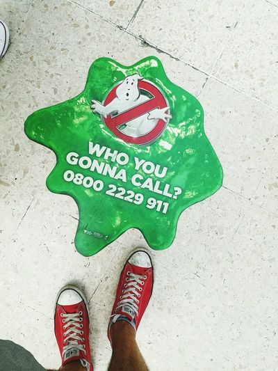 Who you gonna call? Ghostbusters Whoyougonnacall London Waterloo Station Waterloo Train Uk Cazafantasmas 2016 Converse Allstar Color Palette Festival Season
