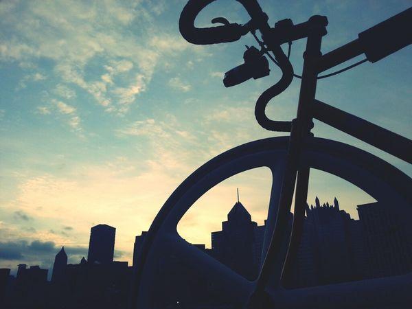 Skyline City Bike Bicycle Cloudporn Fixed Gear Skyporn Fixie Mercier Aerospoke Dropbars Kilo Tt