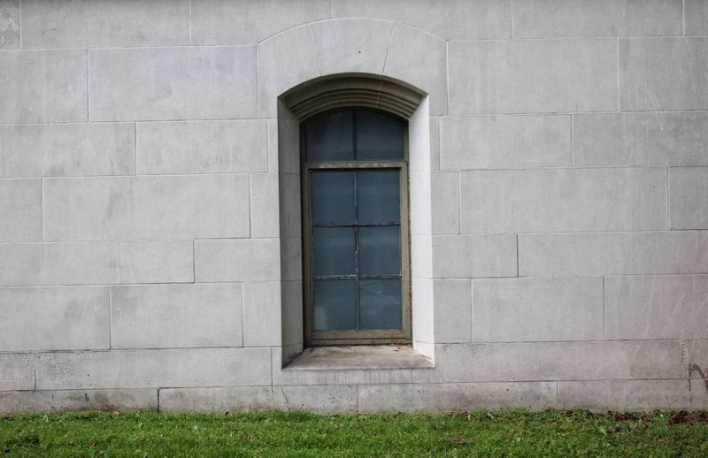 Built Structure Architecture Building Exterior Building Window Wall - Building Feature Day Residential District House Grass Security Closed Door Protection Plant No People White Color Wall Entrance Outdoors