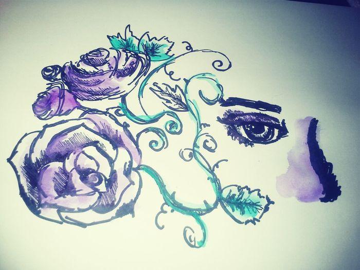 Lana del wonderful eye watercolor